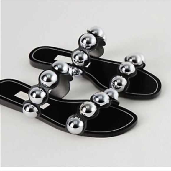 Zara silver ball sandals